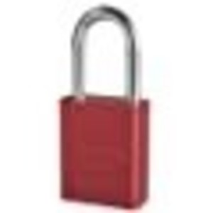 Master Lock A1106RED1KEY RED ANODIZED SAFETY PADLOCK, SHACKLE KEYED DIFFERENTLY