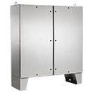 nVent Hoffman A60H4812SSLPQT SS Two Dr Type 4X Enclosure
