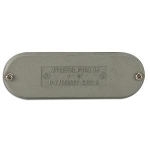 "Appleton K100-CM Conduit Body Cover, 1"", Type Screw-On, Form 35, Malleable Iron"