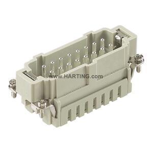 Harting 09330162616 Han 16 ES-M Insert, Size 16 B, 500V