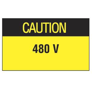 Panduit PLD-91 Label Dispenser,Polyester,'Caution 480V'