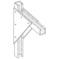 Eaton B-Line BFP409-24 B-LINE BFP409-24 BRACKET, 24-IN., F