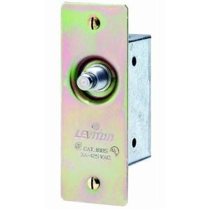 Leviton 1865 Doorjamb w/Jamb Box Switch, Momentary, 3A, 125V, Brass, 1-Pole
