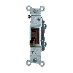 Leviton 1451-2 Single-Pole Toggle Switch, 15A, 120VAC, Brown, Residential Grade