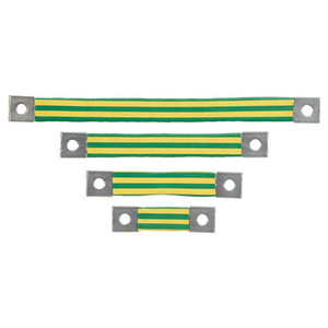 Panduit BS100445 Braided Bonding Strap, One-Hole, Insulat