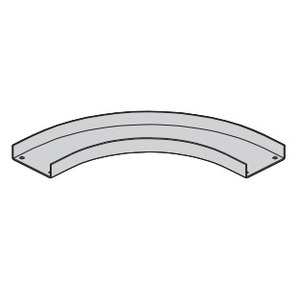 "Eaton B-Line ACCN-04-90HB12 Channel Cable Tray 90° Horizontal Bend, 12"" Radius, 4"" Wide, Aluminum"