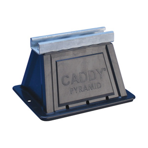 """nVent Caddy PSF6C Fixed Strut Support, Height: 4.8"""", Length: 6"""", Steel/Polyethylene"""