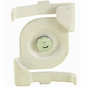 """nVent Caddy 4G8WH Steel Twist-On Track Light Clips, 15/16"""" Tee"""