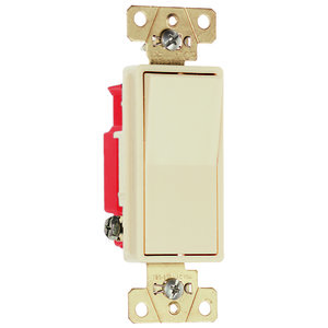 Pass & Seymour 2623-I Decora, 3-Way, 20 Amp, 120/277 Volt, Ivory