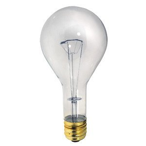 Damar 00504B Incandescent Bulb, PS35, 500W, 130V, Clear