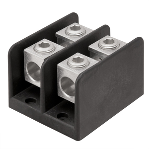 Ilsco PDB-24-500-3 Connector Block, 3-Pole, Line - (2) 4 AWG - 500 MCM, Load - (4) 6 - 4/0 AWG