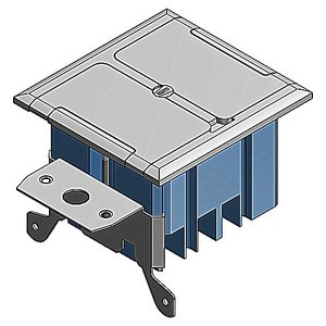 Carlon B234BFSS Two Gang, Adjustable Floor Box, Stainless Steel Cover