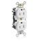 M5262-IGW WH LEV-LOK IG REC DUP 15A125V