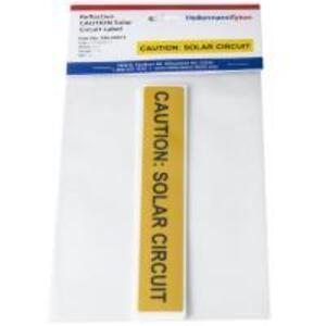 HellermannTyton 596-00673 Caution Solar Circuit