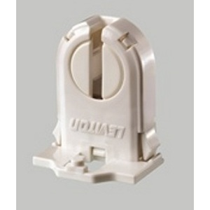 Leviton 13661-SWP Fluorescent Lampholder, Med Base, Snap-In w/ Post Mounted