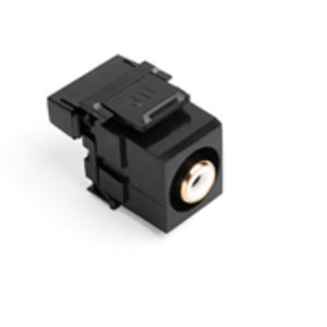Leviton 40735-RWE Black RCA-110 QuickPort Snap-In Connector