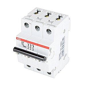 ABB S203-D6 Breaker, Miniature, DIN Rail Mount, 6A, 3P, 480Y/277VAC, 6kAIC