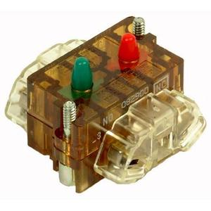 Eaton 10250T1CP 30mm Contact Block, 1 N.O., 1 N.C., 10250T