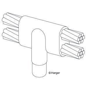 Harger Lightning & Grounding GF344/0D 4/0 TO 3/4 GRD ROD