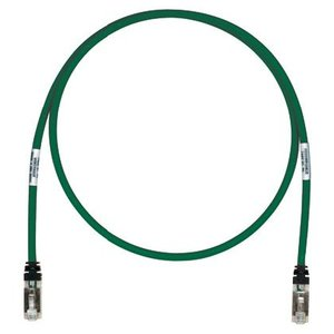 Panduit STP6X100GR Copper Patch Cord, Cat 6A, Green S/FTP C