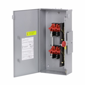 Eaton DT221URK Safety Switch, Double Throw, 30A, 2P, 240VAC, Non-Fused, NEMA 3R