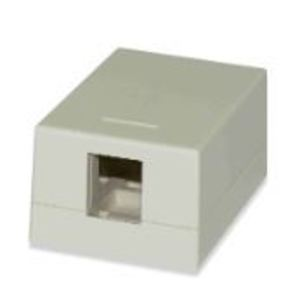 Signamax SMKL-1-WH 1-Port Surface Mount Multimedia Box, White