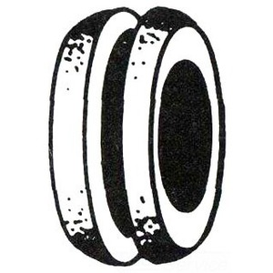 Mulberry Metal 40454 Rubber Telephone Bushing, 7/8 Inch
