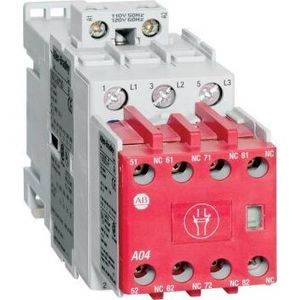 Allen-Bradley 100S-C09D05C Contactor, Safety, 9A, 120VAC, Coil, Bifurcated Contacts, 3NO, 5NC
