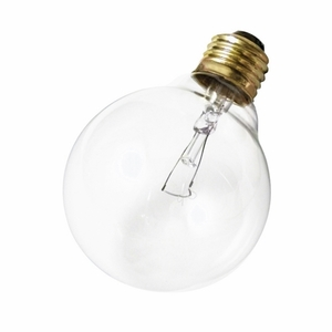 Satco A3647 Incandescent Decorative Lamp, G25, 25W, 130V