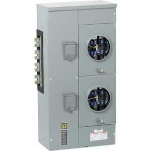 Square D EZMR332225 Meter Pak, Branch Unit, 2 - 225A Socket, 1200A, 208Y/120VAC, 3PH