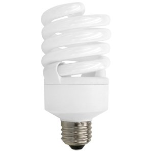 TCP 40123 Compact Fluorescent Lamp, 23W, Twister, Dimmable, 2700K