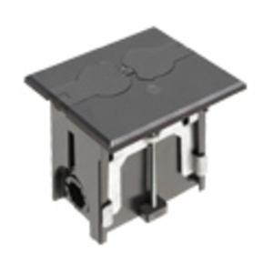 "Arlington FLBAF101BL Rectangular Floor Box Assembly, Adjustable, Depth: 4"", Non-Metallic"
