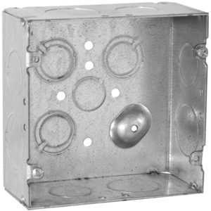 "Hubbell-Raco 265 4-11/16"" Square Box, Welded, Metallic, 2-1/8"" Deep"