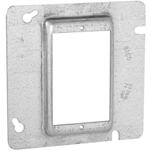 "Hubbell-Raco 843 4-11/16"" Square Cover, 1-Device, Mud Ring, 5/8"" Raised, Drawn"