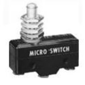 Micro Switch BZ-2RQ68 Switch, Basic, Overtravel Plunger, 15A, 250VAC, 1PDT, Panel Mount