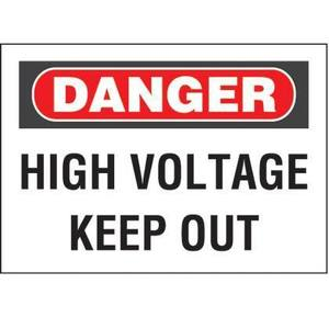 Panduit PPS0305D73 Adhesive Sign, Polyester, Danger Header,
