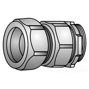 """OZ Gedney 31-050 Rigid Compression Connector, 1/2"""", Malleable, Concrete Tight"""