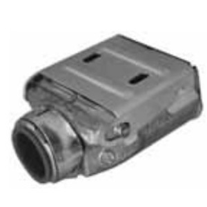 """Appleton 3838SLC MC/AC Cable Connector, Double SnapIn, 3/8"""", Insulated Zinc"""