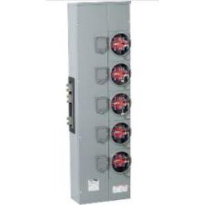Square D EZMR115225 Meter Pak, Branch Unit, 5 - 225A Socket, 800A, 120/240VAC, 1PH