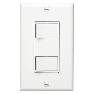 Broan P68W 2-Function Control, White, 15 amp, 120V