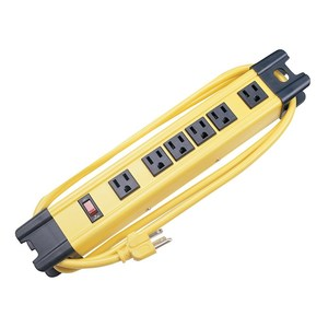 Hubbell-Wiring Kellems HBL6PS350YL TVSS Plug Strip, 6-Outlet, 15A, 125V, 6' Cord, Yellow