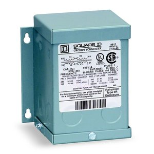 Square D 50SV46A Transformer, 50VA, 1P, 120x240V, 16/32, Buck-Boost