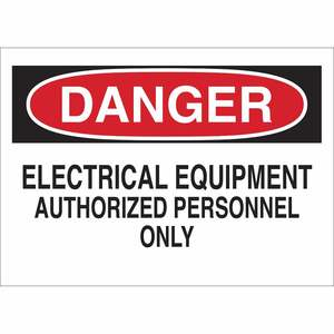 40657 ELECTRICAL HAZARD SIGN