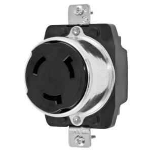 Hubbell-Kellems HBL3769 Locking Receptacle, Non-NEMA, 50A, 250VDC, 600VAC, 3P4W