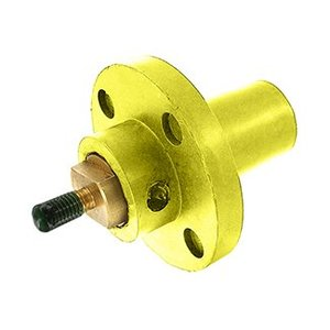 Leviton 17R22-Y Female, Panel Receptacle, 90 Deg., 250-750 MCM, Threaded Stud, Cam-Type, Yellow