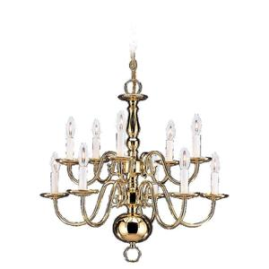 Sea Gull 3413-02 Chandelier Ten Light Polished