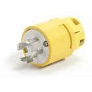 Woodhead 26W76 Locking Plug, 20A, 3PH 480V, Wetguard, 3P4W