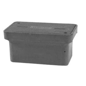 "Hubbell-Quazite PG1118CA0009 Cover For Stackable Box, Standard Duty, 11"" x 18"", Polymer Concrete"