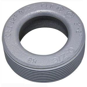 "Appleton RB400-300 Reducing Bushing, Threaded, 4"" x 3"", Malleable Iron"