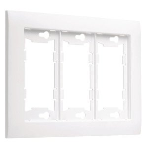 Hubbell-TayMac A3000W ALLURE® 3 -Gang Wallplate, White